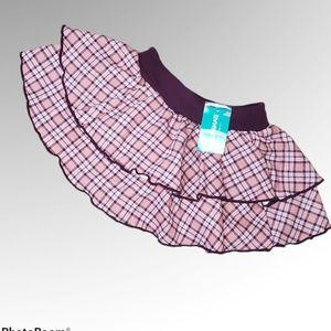 NWT Garanimals Cotton Blend Stacked Skirt Plaid